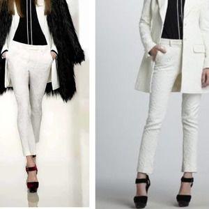 [Rachel Zoe] Textured Brocade Tailored Ankle Pants